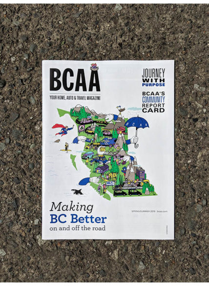 BCAA magazine front cover artwork  Making BC Better on and